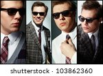 collage of elegant man in smart ... | Shutterstock . vector #103862360