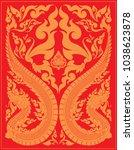 swirl doodle tribal thai and...   Shutterstock .eps vector #1038623878