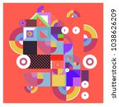 trendy geometric elements... | Shutterstock .eps vector #1038626209
