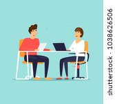 business characters. co working ... | Shutterstock .eps vector #1038626506