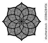 mandala. arabesque. round... | Shutterstock .eps vector #1038628456