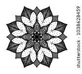 mandala. arabesque. round...   Shutterstock .eps vector #1038628459