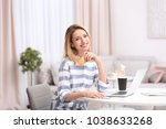 beautiful woman with credit... | Shutterstock . vector #1038633268
