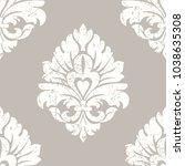 vector grunge damask seamless... | Shutterstock .eps vector #1038635308