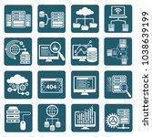 big data icon set vector design | Shutterstock .eps vector #1038639199