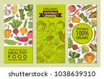 eat healthy food poster with... | Shutterstock .eps vector #1038639310