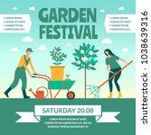 garden festival. color poster...   Shutterstock .eps vector #1038639316