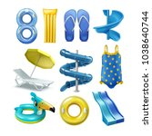 vector set of equipment and...   Shutterstock .eps vector #1038640744