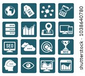 strategy and marketing icon set ... | Shutterstock .eps vector #1038640780