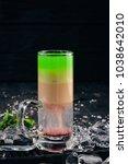 hiroshima alcoholic cocktail.... | Shutterstock . vector #1038642010