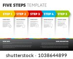 one two three four five  ... | Shutterstock .eps vector #1038644899