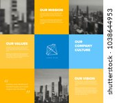 company culture template  ... | Shutterstock .eps vector #1038644953