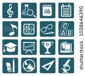 education icon set vector design | Shutterstock .eps vector #1038646390