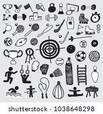 sport hand drawn simple icons | Shutterstock .eps vector #1038648298