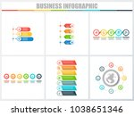 abstract infographics number...   Shutterstock .eps vector #1038651346
