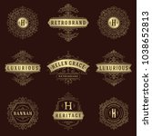 luxury logos templates set ...   Shutterstock .eps vector #1038652813