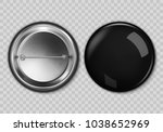 blank black button badge ... | Shutterstock .eps vector #1038652969