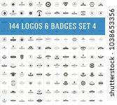 vintage logos design templates... | Shutterstock .eps vector #1038653356