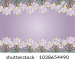 the bush of crocus. | Shutterstock .eps vector #1038654490