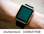 closeup of mockup smartwatch | Shutterstock . vector #1038657508