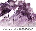amethyst natural quartz blue... | Shutterstock . vector #1038658660
