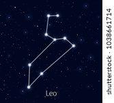 sign zodiac leo  night sky... | Shutterstock .eps vector #1038661714