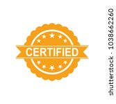 certified icon. approved... | Shutterstock .eps vector #1038662260