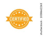 certified icon. approved... | Shutterstock .eps vector #1038662263
