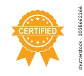 certified icon. approved... | Shutterstock .eps vector #1038662266