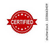 certified icon. approved... | Shutterstock .eps vector #1038663409