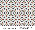 peranakan tiles pattern... | Shutterstock .eps vector #1038664318