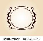 vector retro frames .vector... | Shutterstock .eps vector #1038670678