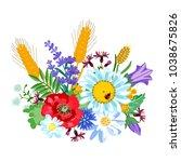 wild summer flowers. cerastium...   Shutterstock .eps vector #1038675826