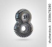 bdsm number 8. 3d rendering... | Shutterstock . vector #1038678280