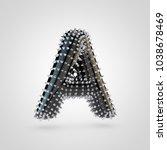 bdsm letter a uppercase. 3d... | Shutterstock . vector #1038678469