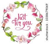 wildflower magnolia flower... | Shutterstock . vector #1038679069