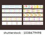 easter vector seamless ribbons... | Shutterstock .eps vector #1038679498