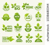 logos of eco style. business... | Shutterstock .eps vector #1038680344