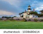 california lighthouse. point... | Shutterstock . vector #1038680614