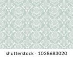 seamless floral ornament on... | Shutterstock .eps vector #1038683020