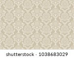 seamless floral ornament on... | Shutterstock .eps vector #1038683029