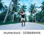 healthy lifestyle. jogging... | Shutterstock . vector #1038686446