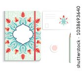set of notebook  pencil  tag... | Shutterstock . vector #1038693640