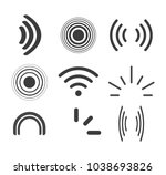 signal icons vector set icon | Shutterstock .eps vector #1038693826