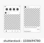 photo mockup for social network.... | Shutterstock .eps vector #1038694780