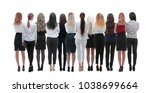 back view group of business... | Shutterstock . vector #1038699664