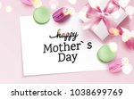 happy mother s day card with... | Shutterstock .eps vector #1038699769