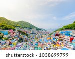 gamcheon culture village busan  ... | Shutterstock . vector #1038699799