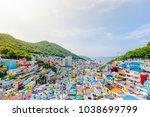 gamcheon culture village busan  ...   Shutterstock . vector #1038699799