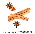 close up brown cinnamon stick...   Shutterstock . vector #1038702124